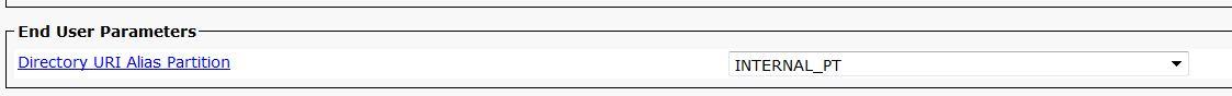Cisco CUCM - Directory URI Parameter