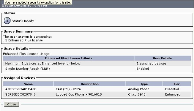 CUCM UCL Enhanced PLus License Detail
